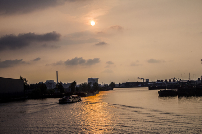 Sunset at Amsterdam Noord