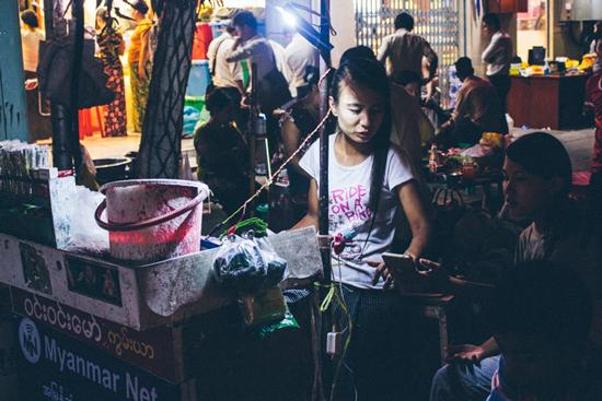 Tobacco seller - Yangon, Myanmar