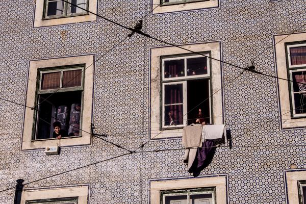 Hanging clothes, Lisbon