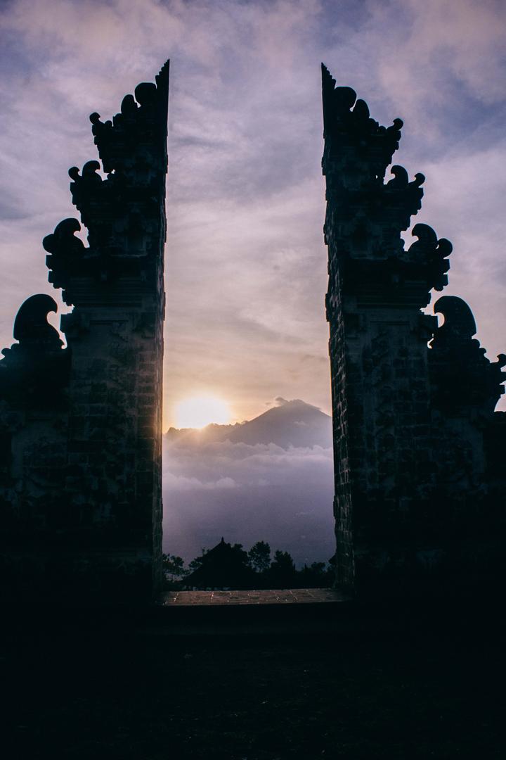 Mount Agung from Lempuyang Luhur Temple, Bali