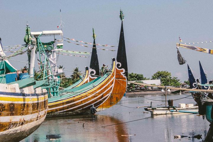 Fishing boats at Pengambengan, Bali