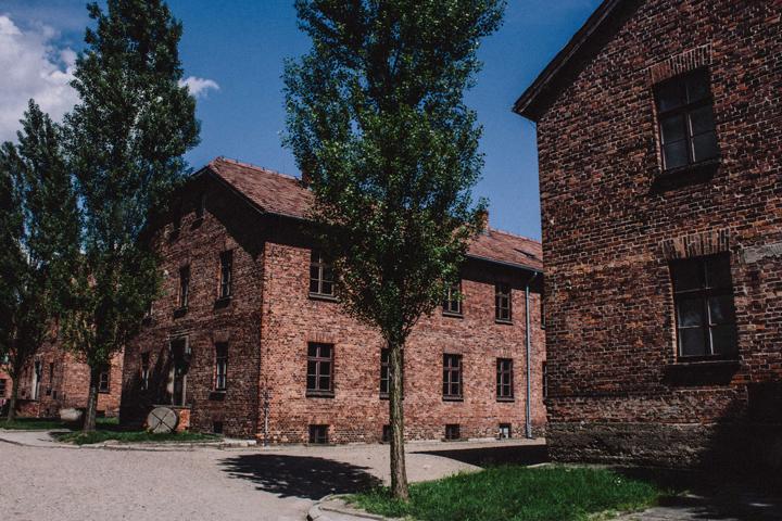 Auschwitz's barracks