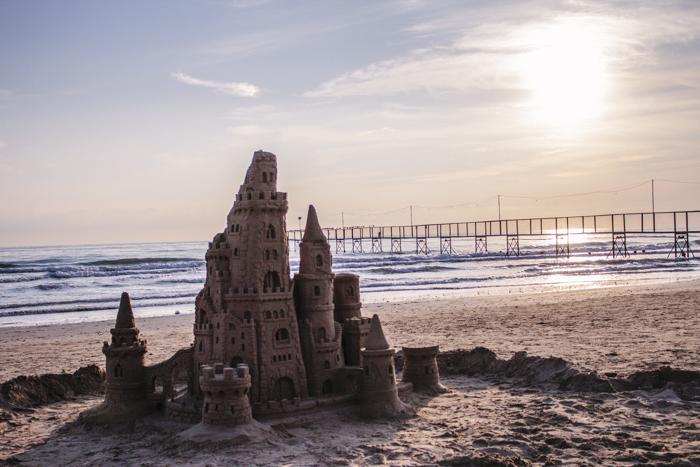 Sand castle, Rimini, Italia