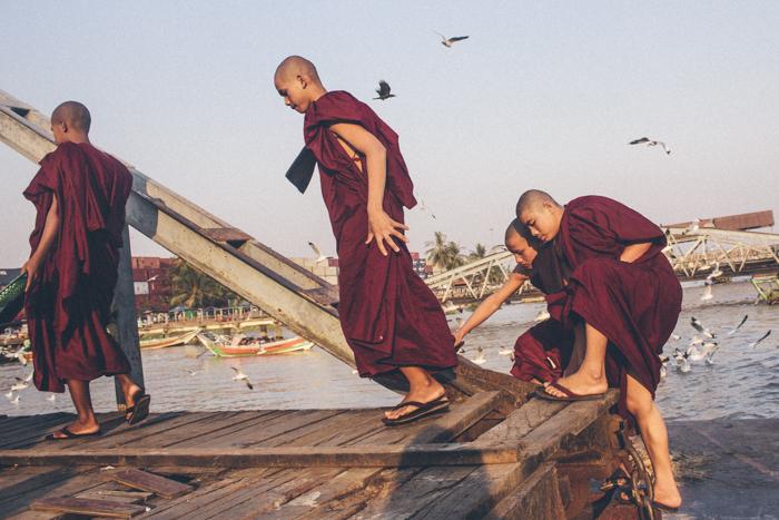 Yangon river, Myanmar