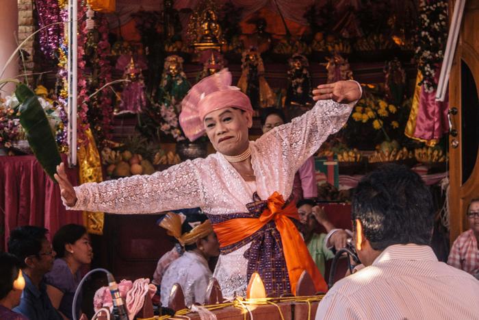 Dancer during a Nat spirit ritual