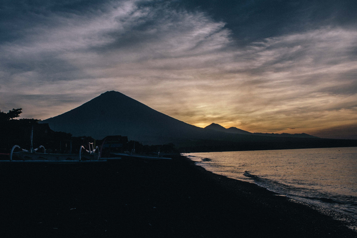 Gunung Agung at sunset, Bali