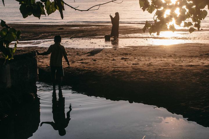 Sunset in Lovina, Bali